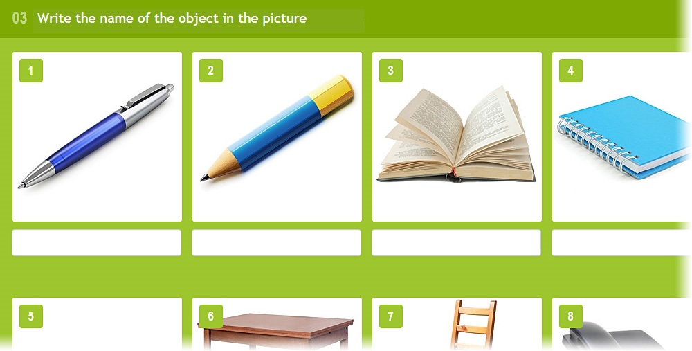 Lang-Land.com - Unit 3 – «Write the name of the object in a picture»
